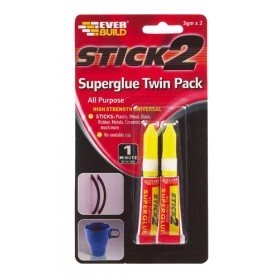 Stick 2 All Purpose Superglue Twin Pack 3gm x 2