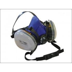 Scan Twin Half Mask Respirator + P2 Dust Filter Cartridges