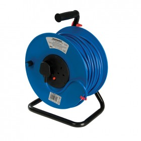 Silverline Cable Reel 240V 13A 50m 2 Socket - 200084
