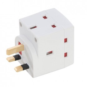 Silverline 3-Way Socket Adaptor 13A 240V - 439477