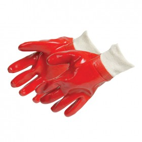 Silverline Red PVC Gloves Large - 447137
