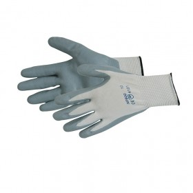 Silverline Foam Nylon Nitrile Gloves Large - 456974