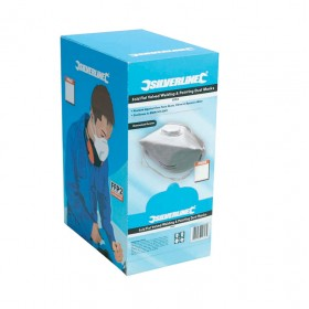 Silverline Fold Flat Valved Face Mask FFP3 NR Box 25pk - 457043