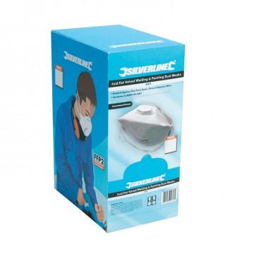 Silverline Fold Flat Valved Face Mask FFP3 NR Box 25pk – 457043
