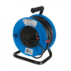 Silverline Cable Reel 240V 13A 25m 4 Socket - 465510