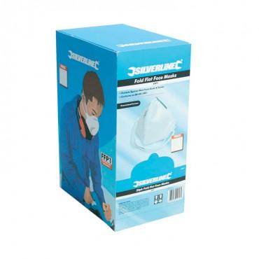 Silverline Fold Flat Face Mask FFP1 NR Box 50pk – 633532