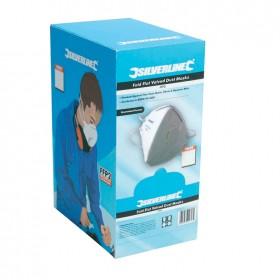 Silverline Fold Flat Valved Face Mask FFP3 NR Box 25pk - 633895