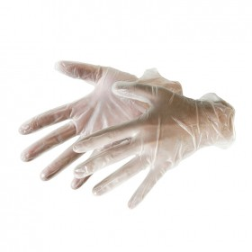 Silverline Disposable Vinyl Gloves 100pk Large - 675052