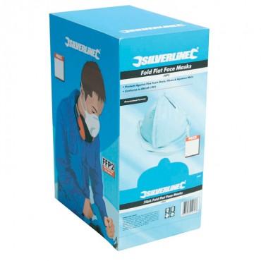 Silverline Fold Flat Face Mask FFP2 NR Box 50pk – 868550