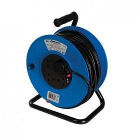 Silverline Cable Reel 240V 13A 50m 4 Socket - 934311