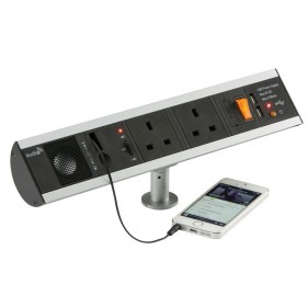 Knightsbridge SK004 13A 2G Power Station with USB Charger & Speaker