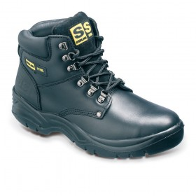 Sterling SS806SM Leather Derby Safety Boot Black