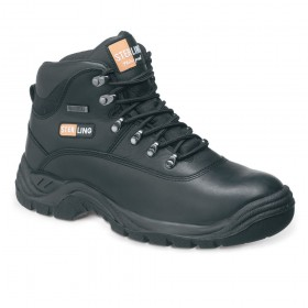 Sterling SS812SM Waterproof Leather Hiker Boot Black