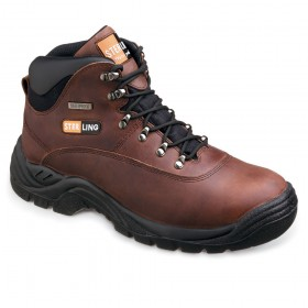 Sterling SS813SM Waterproof Leather Hiker Boot Brown