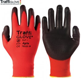 TraffiGlove TG122 Agile PU Coated Glove Cut Level 1