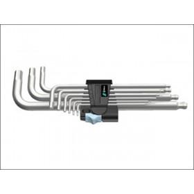 Wera Stainless Steel Ballpoint Hex Key 9 Piece Clip