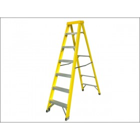 Zarges Fibreglass Swingback Steps Stepladder 7 Rungs