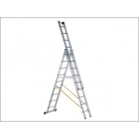 Zarges Skymaster Industrial Ladder 3-Part 3 x 8 Rungs