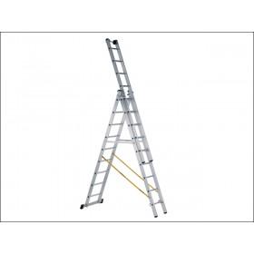 Zarges Skymaster Industrial Ladder 3-Part 3 x 8 Rungs